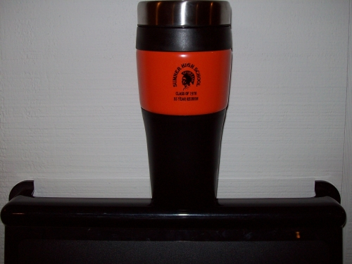 Travel mug without handle $8.00. 2 for $15.00